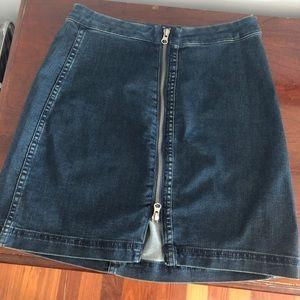Free People Jean Zip Skirt